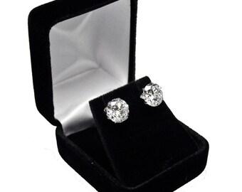 10d4fabbb Black Velvet Earring Box, Jewelry Box, Gift Box, Wedding, Jewelry Supplies,  (T003)
