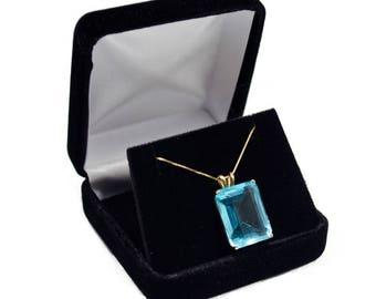 Black Velvet Pendant Gift Box, Jewelry Box, Gift Box, Necklace Gift Box, Jewelry Supplies (T004)
