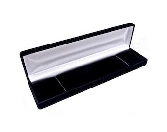 Black Velvet Bracelet Box, Charm Bracelet Box, Gift Box, Jewelry Box, Jewelry Supplies (T010)