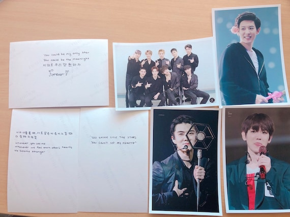exo quotes on photocards