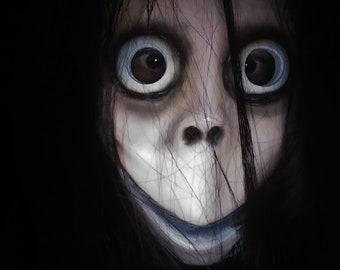 572646caaf4 Scary Creepy Momo Mask by Jusmade