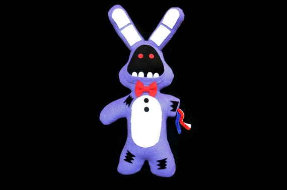 broken withered bonnie handmade plush five nights at etsy