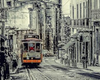 Street Car on the streets of Lisbon