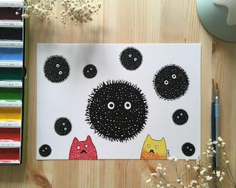 Soot Ball Spirited / Cute /home Decor