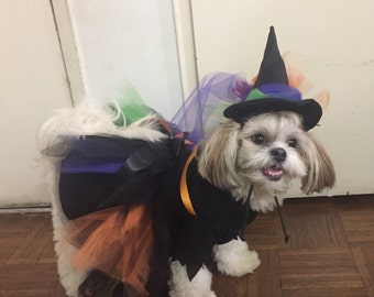 Witch Deluxe Dog Costume, Dog Witch Costume, Puppy Witch Halloween Costume, Pet Witch Costume, Witch Pet Halloween Costume