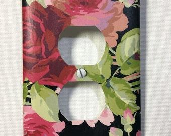 Outlet Cover - Rose/Black Floral