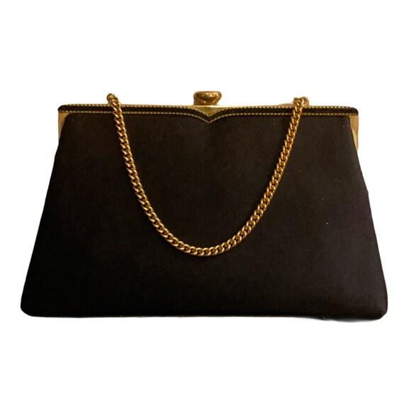 Vintage Coblentz Original Black Satin Evening Bag