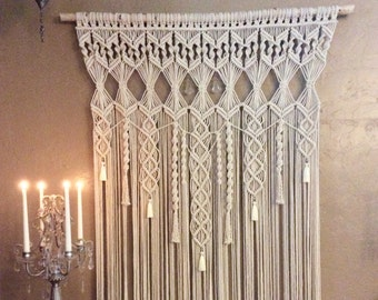 Extra Large Macrame Wall Hanging Tapestry Wedding Backdrop Macrame Curtain Woven Wall Hanging Boho Decor Bohemian Decor FREE SHIPPING