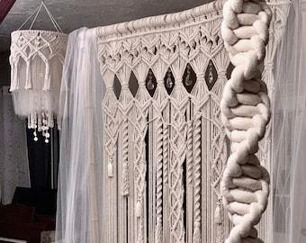 Extra Large Macrame Wall Hanging, Large Woven Wall Hanging, Bohemian Decor, Macrame Curtain, Boho Wedding Backdrop, Macrame Elelegance