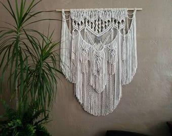 Hippie Decor Boho Decor Gypsy Decor Macrame Wall Hanging Tapestry Wall Art Wall Decor Woven Wall Hanging Fiber Art Boho Hanging Bohemian Art