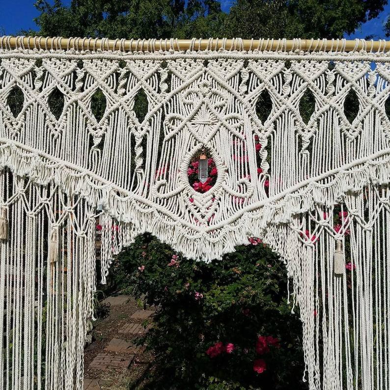 Macrame Wedding Backdrop Outdoor Wedding Arch Outdoor image 0