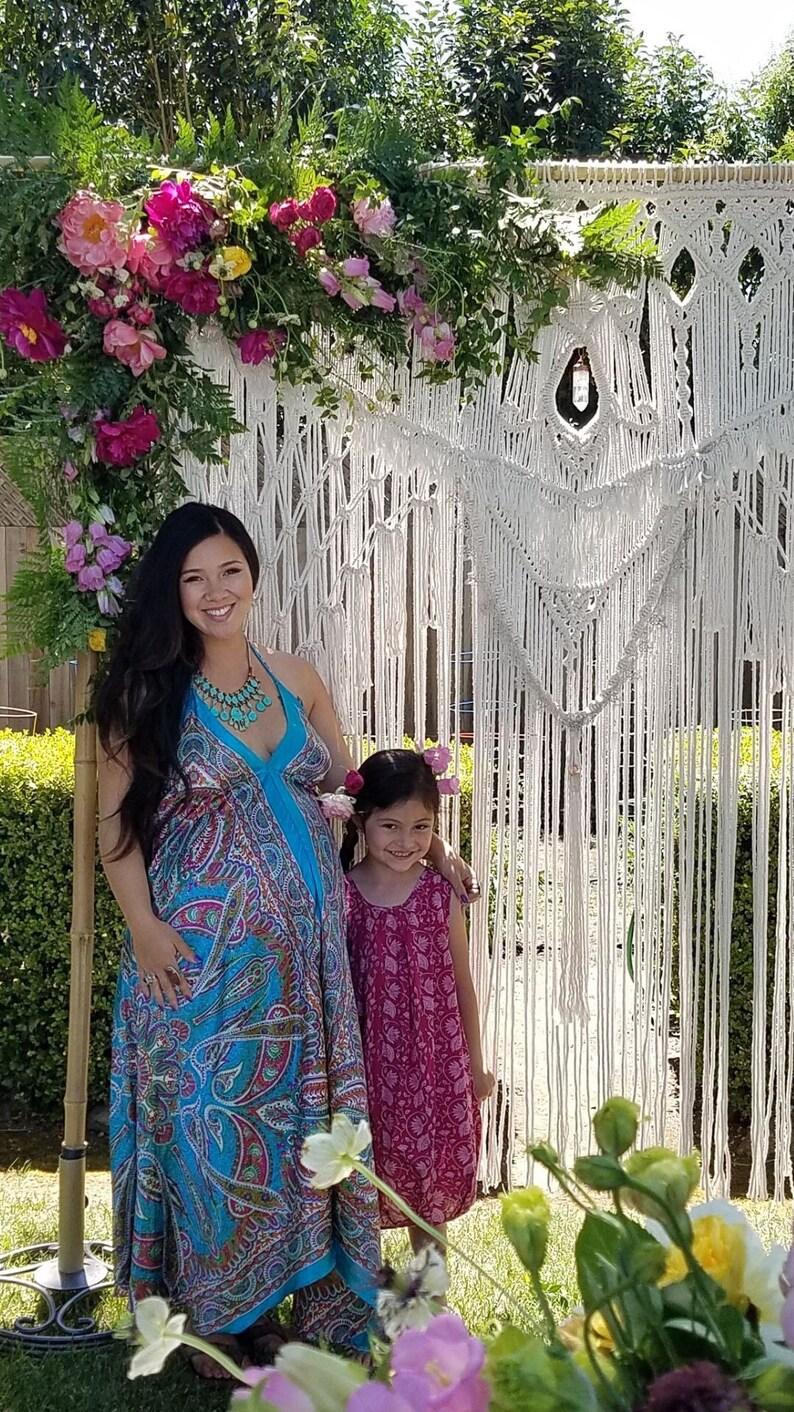 Macrame Wedding Backdrop Extra Large Macrame Wall Hanging image 0