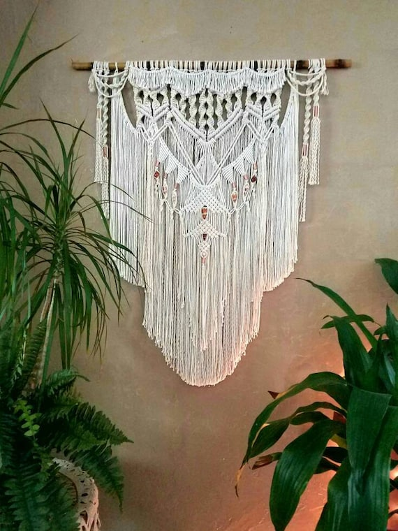 Large Macrame Wall Hanging Tapestry Woven Wall Hanging Bohemian Wall Tapestry Boho Decor Bohemian Art Macrame Curtain Rustic Home Decor