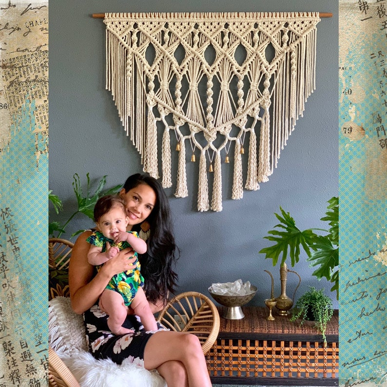 Large Macrame Wall Hanging Wall Tapestry Large Woven Wall image 0