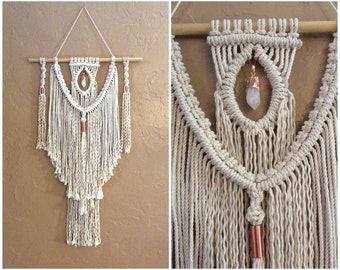 Boho Decor Bohemian Decor Macrame Wall Hanging Wall Tapestry Home Decor Rustic Home Decor Shabby Chic