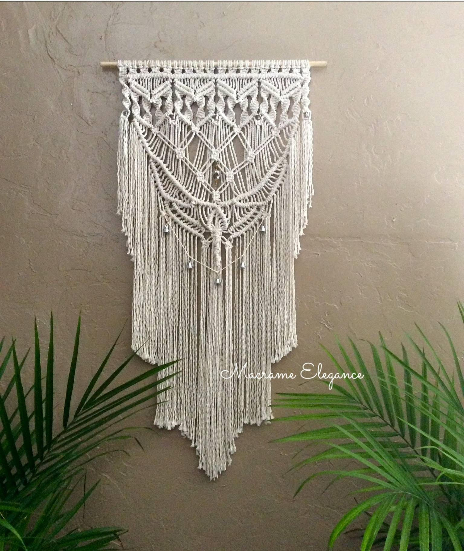 Macrame Wall Hanging Tapestry Woven Wall Hanging Fiber Art