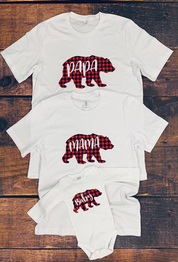 USA New Family Matching Clothes Sister Bear Daughter Matching Baseball Top shirt