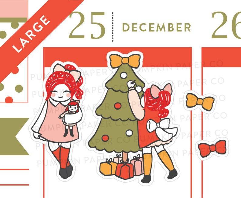 P625  Christmas girls planner stickers christmas tree image 0