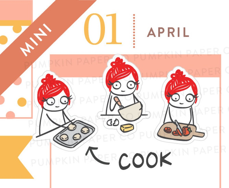 P529  Cooking planner stickers baking stickers vegetable image 0