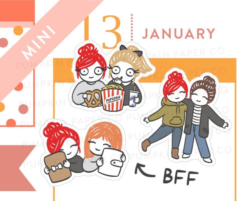 P643  Best friend planner stickers BFF stickers planner image 0