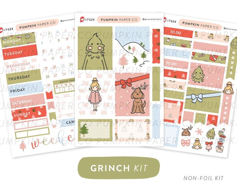 P634  Grinch planner kit christmas weekly kit vertical image 0