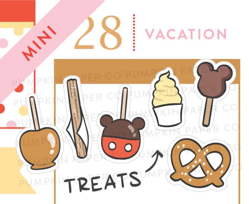 P649  Treats planner stickers churro pretzel carmel apple image 0