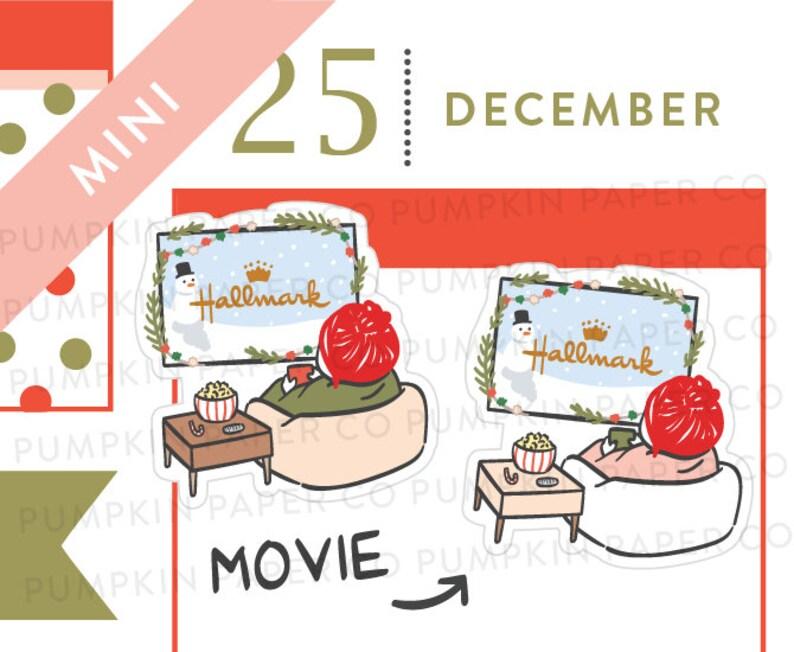 P612  Christmas movie planner stickers holiday movie image 0