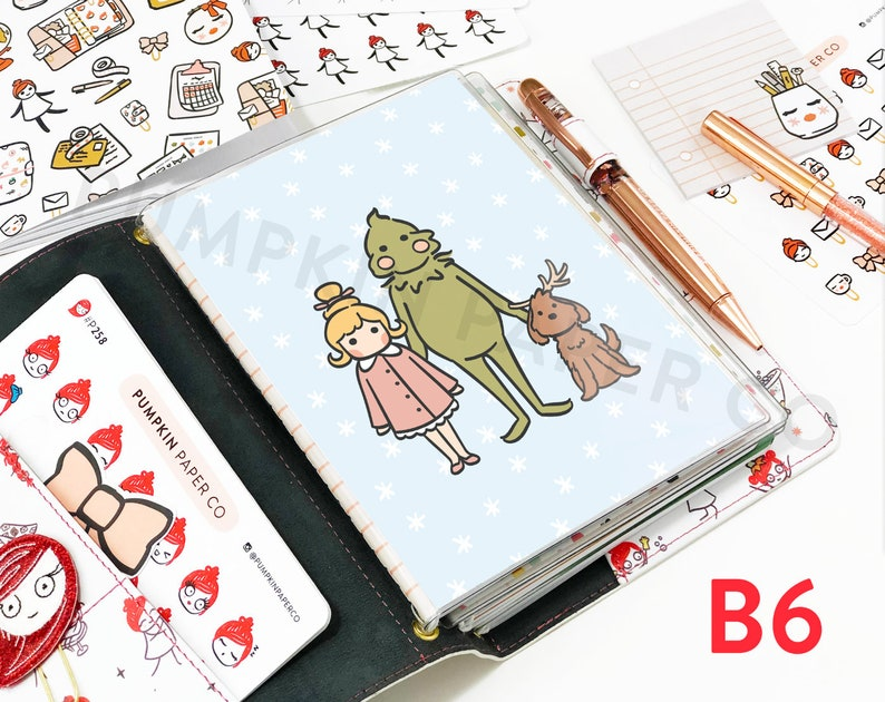 B6 Grinch and Cindy Dashboard TN dashboard planner stickers image 0