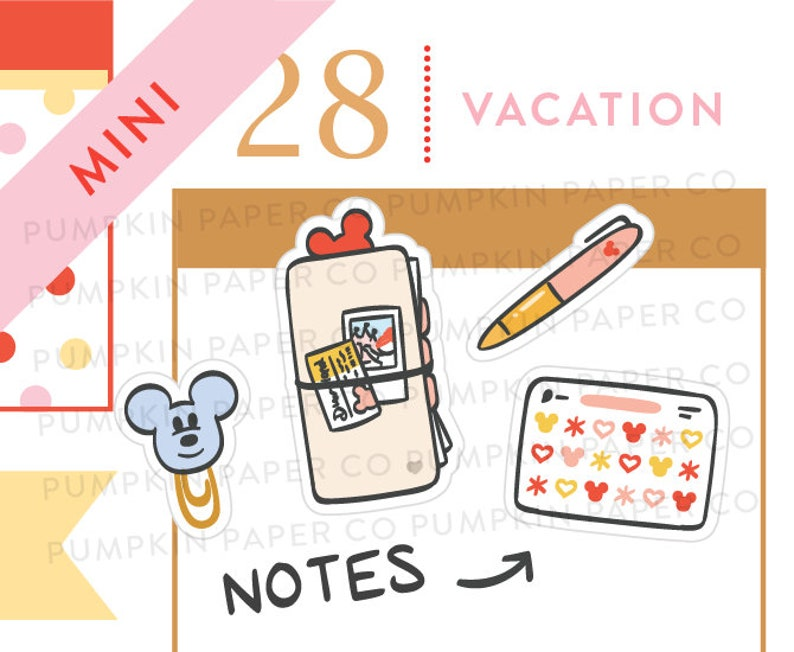 P659  Cute planner stickers vacation planner hobo stickers image 0