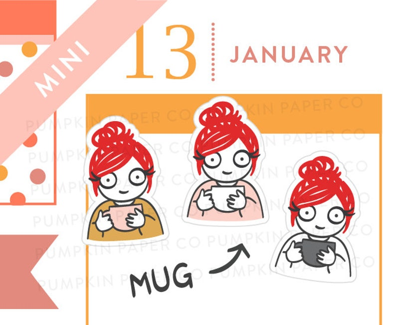 P648  Mug planner stickers coffee stickers tea stickers image 0