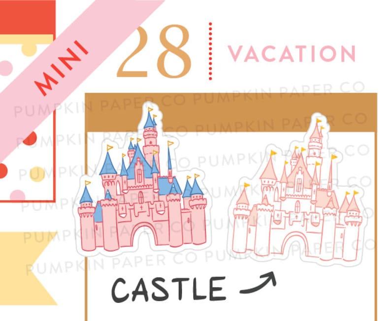 P658  castle stickers planner stickers disneyland inspired image 0