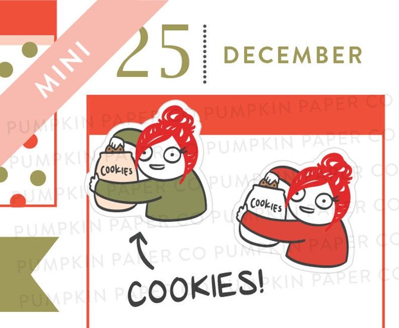 P615  Cookie Jar planner stickers christmas cookies food image 0