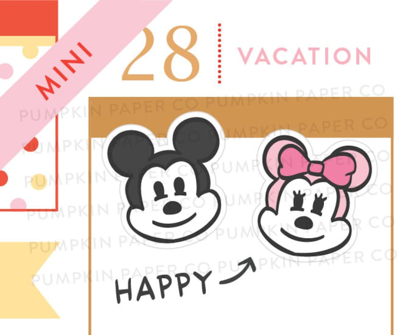 P655  Cute mouse stickers disney inspired stickers image 0
