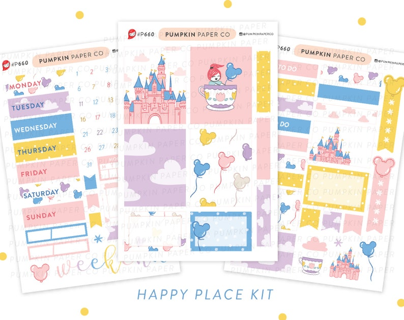 P660  Happy Place kit planner stickers kit disneyland image 0