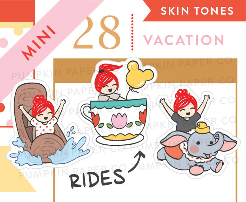 P650  Theme park ride stickers teacup ride roller coaster image 0