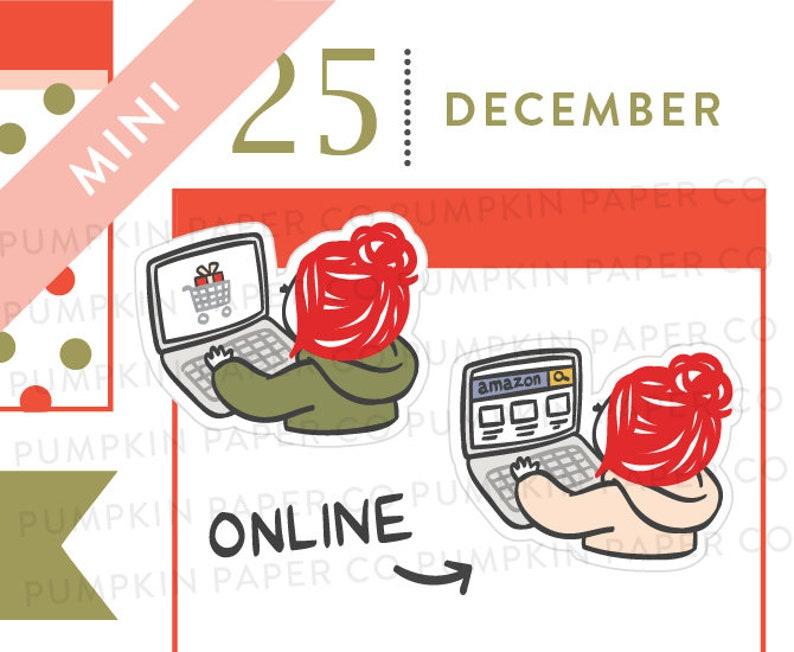 P614  Online shopping planner sticker laptop sticker image 0