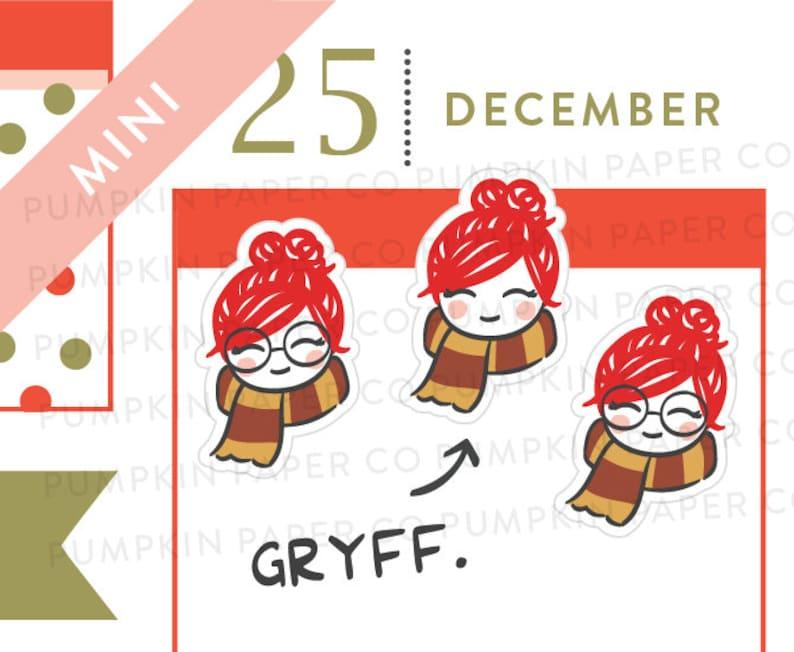 P617  Gryffindor stickers wizard stickers scarf cozy image 0