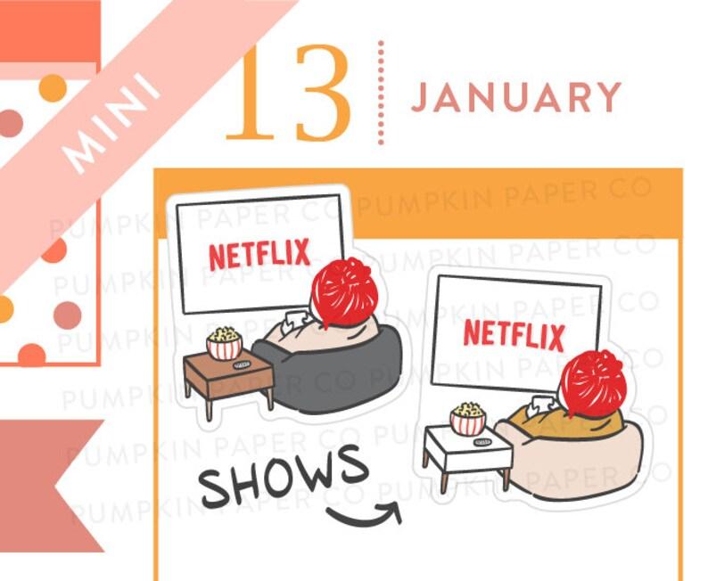 P641  Tv show planner stickers binge watch movie stickers image 0