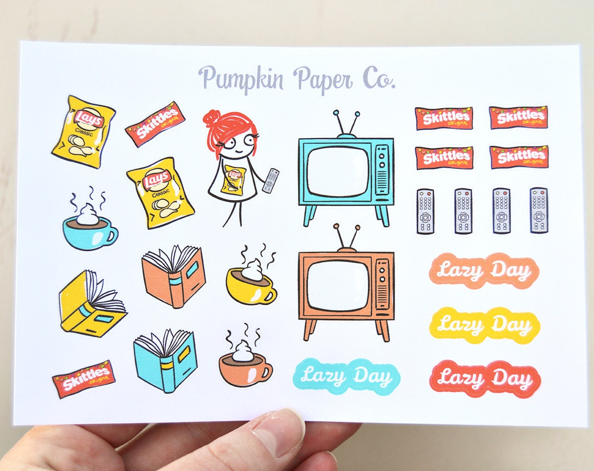 P076-Reading planner stickers lazy day planner stickers