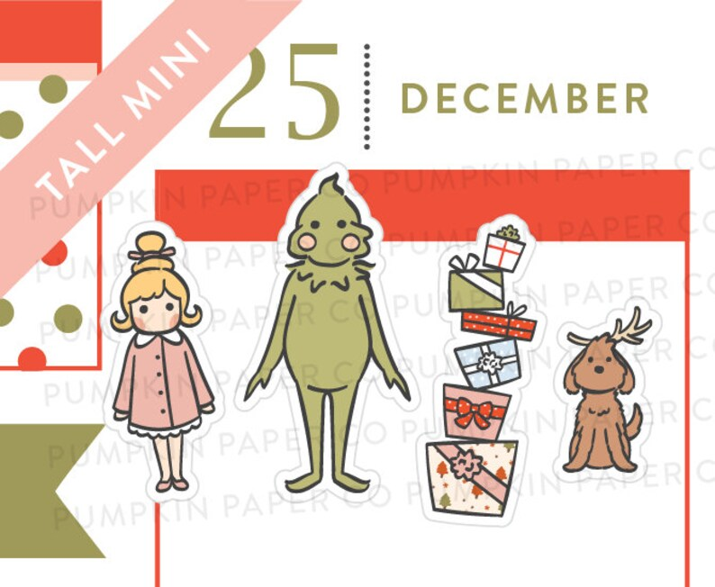 P628  Grinch stickers christmas planner stickers 33 image 0