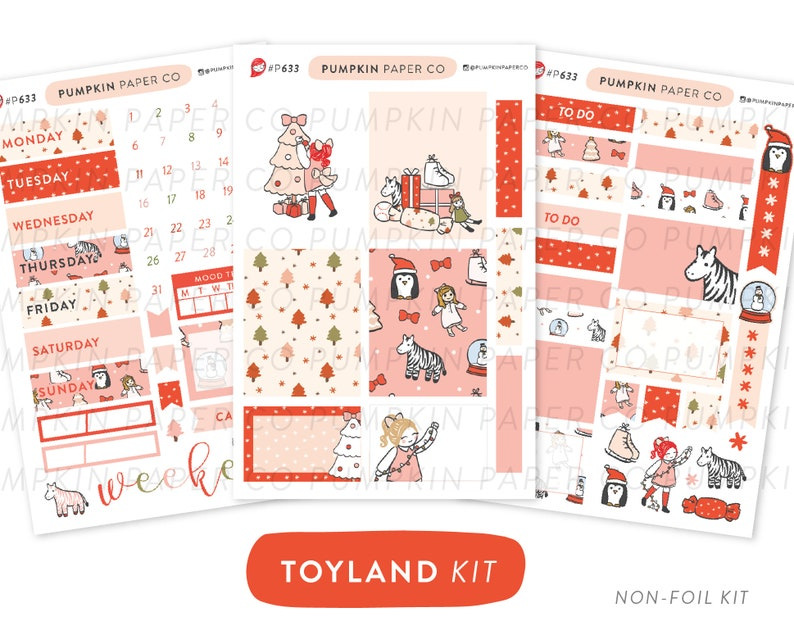 P633  Toyland planner kit christmas weekly kit vertical image 0