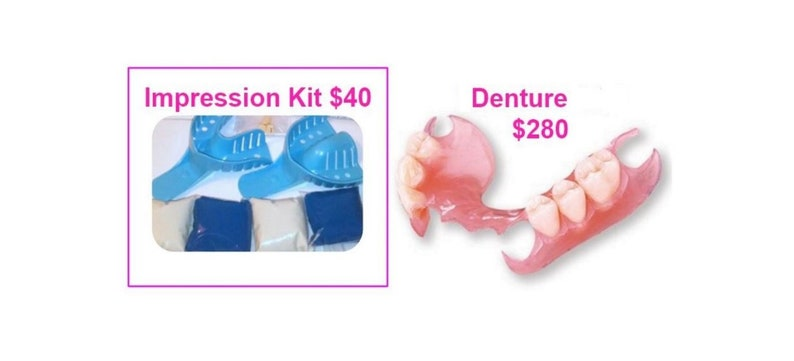 Dental Impression Kit Only | Affordable Partial Dentures Online  DentureSmile | Flippers | Custom-Made | Improve Your Smile, Speech, Chewing