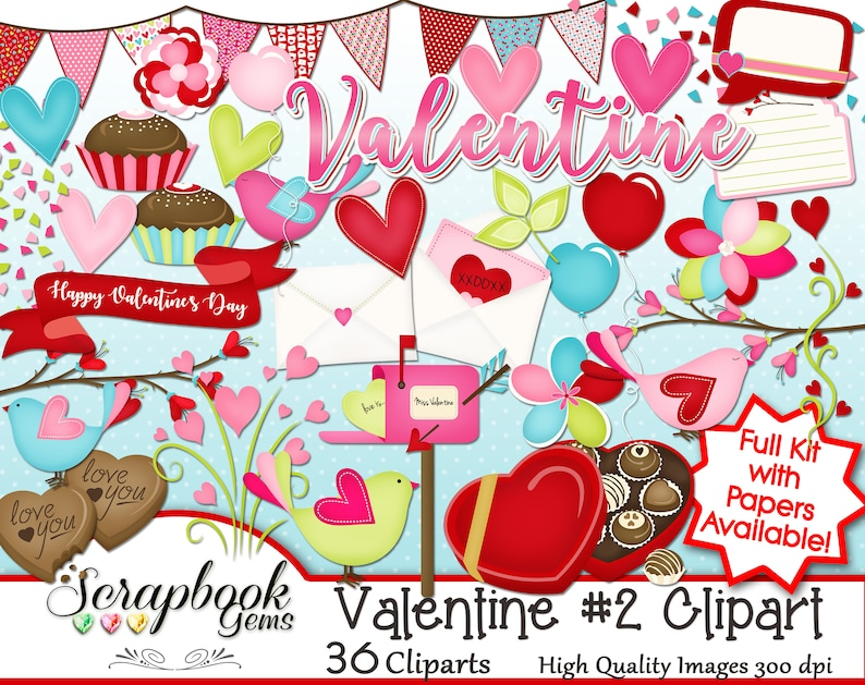 Valentine 2 Clipart 36 Png Clipart Files Instant Download Chocolate Candy Candies Mail Box Envelope Letter Hearts Love Wedding Confetti Clip Art Art Collectibles Kromasol Com