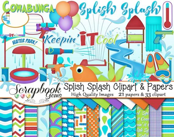 Get Set to Get Wet Sprinkler Scrapbook Page Kit