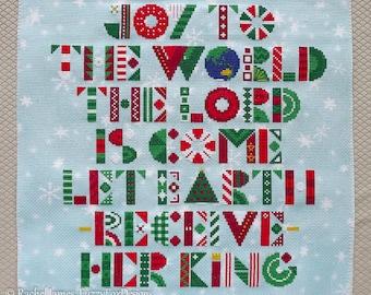 Joy to the World Christmas Cross Stitch Pattern PDF
