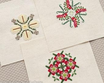 Australian Flora Christmas Decorations #3 Cross Stitch Pattern PDF | Set of 3 Aussie Floral DIY Christmas Decorations
