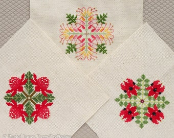 Australian Flora Christmas Decorations #2 Cross Stitch Pattern PDF | Set of 3 Aussie Floral DIY Christmas Decorations