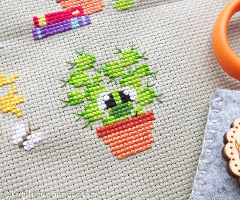 Pasquale the Cactus Cross Stitch Pattern PDF  Prickly but image 0