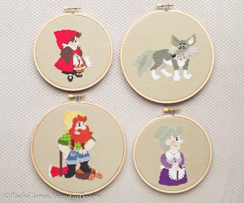 Little Red Riding Hood Series Cross Stitch Pattern PDF image 0