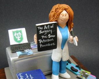 Female Surgeon Figurine, Customized Lady Doctor Graduation Gift, Personalized Surgeon Gift, Doctor Figurine, Female Surgeon Graduation Gift